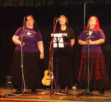 Three SC&T singers at the Tarves Scots Handsel concert October 2008